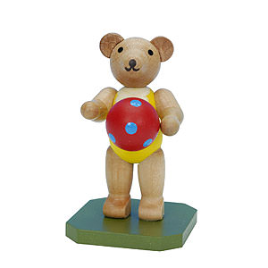 Small Figures & Ornaments Animals Bears Toy Bear with Ball - 6,5 cm / 3 inch