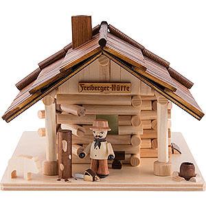Räuchermänner Sonstige Figuren Traditionelles Rauchhaus Freiberger Hütte - 12,5cm