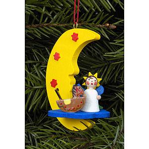Tree ornaments Angel Ornaments Misc. Angels Tree Ornament - Angel in Moon - 4,5x6,3 cm / 2x2 inch