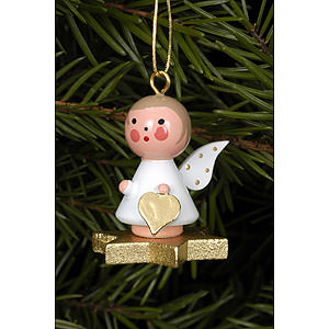 Angels Angel Ornaments Misc. Angels Tree Ornament - Angel on Star - 2,9x3,0 cm / 1x1 inch