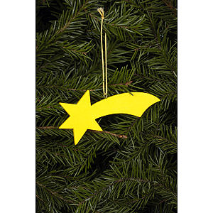 Tree ornaments Moon & Stars Tree Ornament - Comet Yellow - 9,2 / 3,6 cm - 4x1 inch