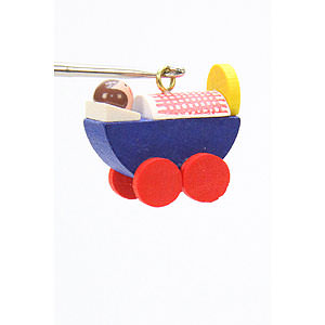 Tree ornaments Toy Design Tree Ornament - Dolls Pram - 2,4 / 2,3 cm - 1x1 inch
