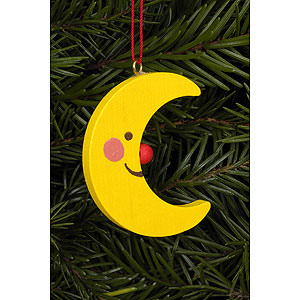 Tree ornaments Moon & Stars Tree Ornament - Moon  - 3,6 / 4,7 cm - 2x2 inch