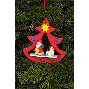 Tree ornaments Santa Claus Tree Ornament - Santa in Tree - 7,2x7,1 cm / 3x3 inch