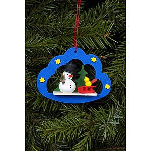 Tree ornaments Snowmen Tree Ornament - Snowman in Angel Cloud - 7,5x5,7 cm / 3x2 inch
