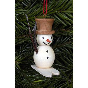 Tree ornaments Snowmen Tree Ornament - Snowman on Skis - 4,8x4,5 cm / 2x2 inch