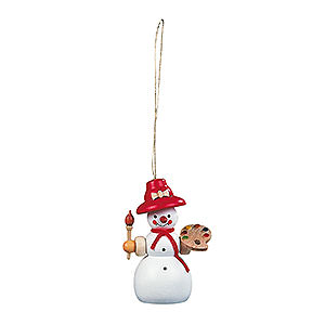 Tree ornaments Snowmen Tree Ornament - Snowwoman - 8 cm / 3 inch