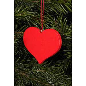 Tree ornaments Misc. Tree Ornaments Tree ornament Heart red - 5,7 x 4,5 cm / 2 x 2 inch