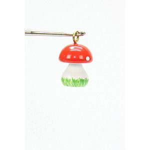 Tree ornaments Misc. Tree Ornaments Tree ornament Mini-Mushroom - 1,0 x 1,5 cm / 1 x 1 inch
