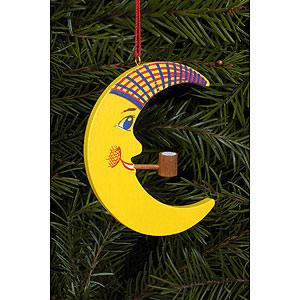 Tree ornaments Moon & Stars Tree ornament Moon with Pipe - 6,0 x 7,2 cm / 2 x 3 inch