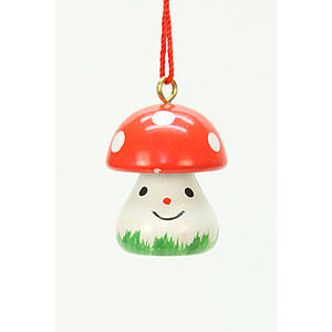 Tree ornaments Misc. Tree Ornaments Tree ornament Mushroom   - 1,8 x 2,4 cm / 1 x 1 inch