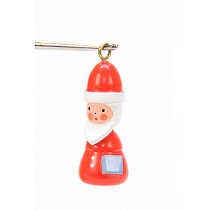 Tree ornaments Santa Claus Tree ornament Santa - 1,4 x 3,0 cm / 1 x 1 inch