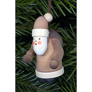 Tree ornaments Santa Claus Tree ornament Santa Claus natural colors - 2,5 x 5,0 cm / 1 x 2 inch