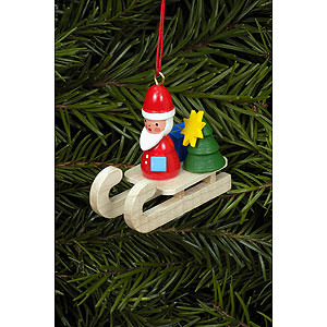 Tree ornaments Santa Claus Tree ornament Santa on sleigh - 4,7 x 4,3 cm / 2 x 1 inch