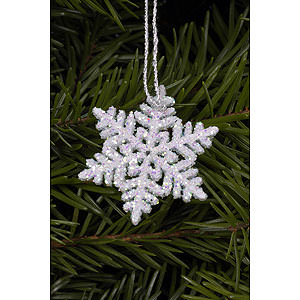Tree ornaments Winterly Tree ornament Snowflakes - 3,5 x 3,5 cm / 1 x 1 inch