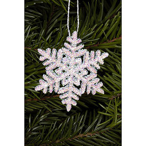 Tree ornaments Winterly Tree ornament Snowflakes  - 4,5 x 4,5 cm / 2 x 2 inch