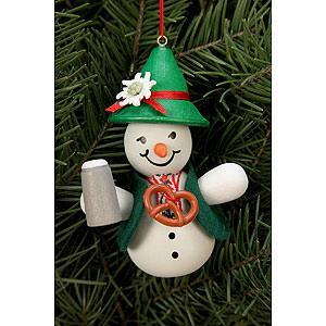 Tree ornaments Snowmen Tree ornament Snowman Bavarian - 6,6 x 9,0 cm / 2 x 3 inch