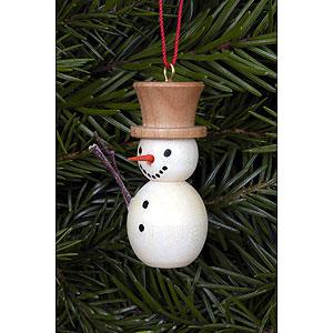 Tree ornaments Snowmen Tree ornament Snowman natural colors - 2,0 x 4,0 cm / 1 x 2 inch