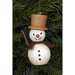 Tree ornaments Snowmen Tree ornament Snowman natural colors - 3,0 x 7,0 cm / 1 x 3 inch