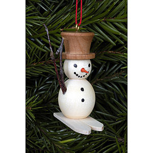 Tree ornaments Snowmen Tree ornament Snowman on Skis - 4,8 x 4,5 cm / 2 x 2 inch