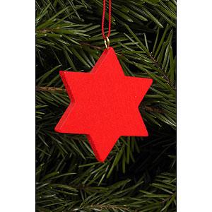 Tree ornaments Moon & Stars Tree ornament Star red - 4,4 x 4,4 cm / 2 x 2 inch