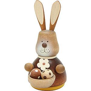 Kleine Figuren & Miniaturen Tiere Hasen Wackelhase mit Eierkorb natur - 9,8cm