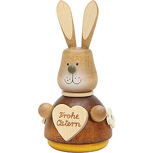 Kleine Figuren & Miniaturen Tiere Hasen Wackelhase mit Herz natur - 9,8cm
