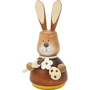 Kleine Figuren & Miniaturen Tiere Hasen Wackelhase mit Pinsel natur - 9,8cm