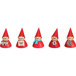 Kleine Figuren & Miniaturen alles Andere Weihnachts-Wippel, 5er Satz - 4cm