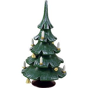 Weihnachtsengel Blank Neuheiten Weihnachtsbaum mit Glöckchen, farbig - 12 cm