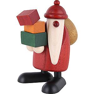 Kleine Figuren & Miniaturen Björn Köhler Weihnachtsmänner kl. Weihnachtsmann Geschenke tragend - 9cm