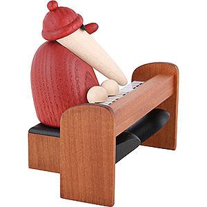 Kleine Figuren & Miniaturen Bj�rn K�hler Weihnachtsmusiker Weihnachtsmann am Piano braun - 9cm