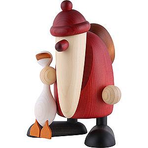 Kleine Figuren & Miniaturen Björn Köhler Weihnachtsmänner gr. Weihnachtsmann mit Gans Auguste - 19cm