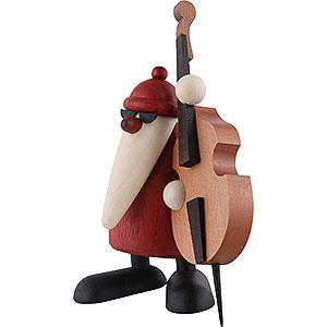 Kleine Figuren & Miniaturen Björn Köhler Weihnachtsmusiker Weihnachtsmann mit Kontrabass - 12cm