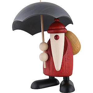 Kleine Figuren & Miniaturen Björn Köhler Weihnachtsmänner kl. Weihnachtsmann mit Schirm - 12cm