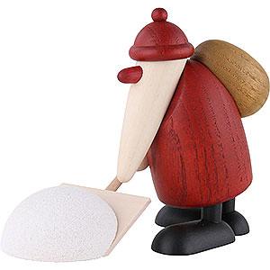 Kleine Figuren & Miniaturen Björn Köhler Weihnachtsmänner kl. Weihnachtsmann mit Schneeschieber - 9cm