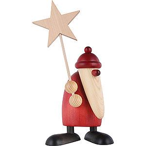 Kleine Figuren & Miniaturen Björn Köhler Weihnachtsmänner gr. Weihnachtsmann mit Stern - 19 cm