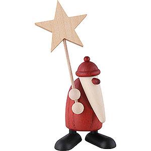 Kleine Figuren & Miniaturen Björn Köhler Weihnachtsmänner kl. Weihnachtsmann mit Stern - 9cm