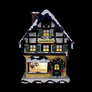 Kleine Figuren & Miniaturen Hubrig Winterkinder Winterhaus Zuckerbäckerei beleuchtet - 15cm