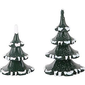 Kleine Figuren & Miniaturen Hubrig Winterkinder Winterkinder 2er Set Winterbaum klein - 6 & 8cm