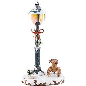 Kleine Figuren & Miniaturen Hubrig Winterkinder Winterkinder Bello unter der Laterne - 12cm