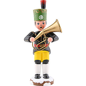 Kleine Figuren & Miniaturen Hubrig Winterkinder Winterkinder Bergmann Tenorhorn - 9 cm
