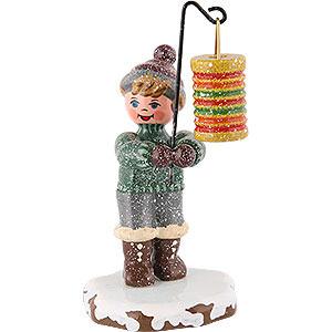 Kleine Figuren & Miniaturen Hubrig Winterkinder Winterkinder Junge mit rundem Lampion - 10 cm