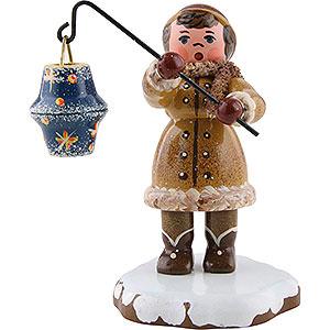 Kleine Figuren & Miniaturen Hubrig Winterkinder Winterkinder Mädchen mit Sternhimmellampion - 8cm