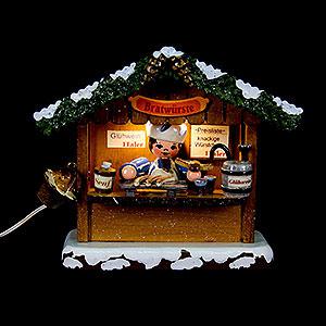 Kleine Figuren & Miniaturen Hubrig Winterkinder Winterkinder Marktbude Bratwursthäusel - 10cm