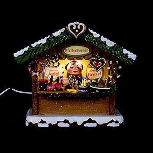 Kleine Figuren & Miniaturen Hubrig Winterkinder Winterkinder Marktbude Pfefferkuchenhäusel - 10cm