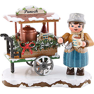 Kleine Figuren & Miniaturen Hubrig Winterkinder Winterkinder Punschwagen - 8cm