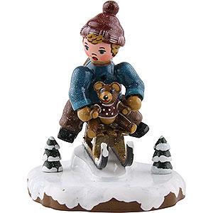 Kleine Figuren & Miniaturen Hubrig Winterkinder Winterkinder Schlittenfahrer - 7 cm