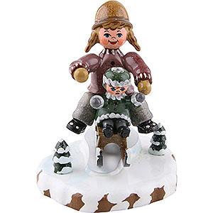 Kleine Figuren & Miniaturen Hubrig Winterkinder Winterkinder Schlittenfahrerin - 7cm