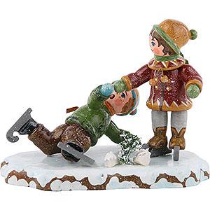 Kleine Figuren & Miniaturen Hubrig Winterkinder Winterkinder Schlittschuhläufer - 7 cm